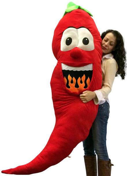 Big Plush Stuffed Red Pepper 66 Inch Soft Giant Fruit Vegetable Huge Fun Plushie