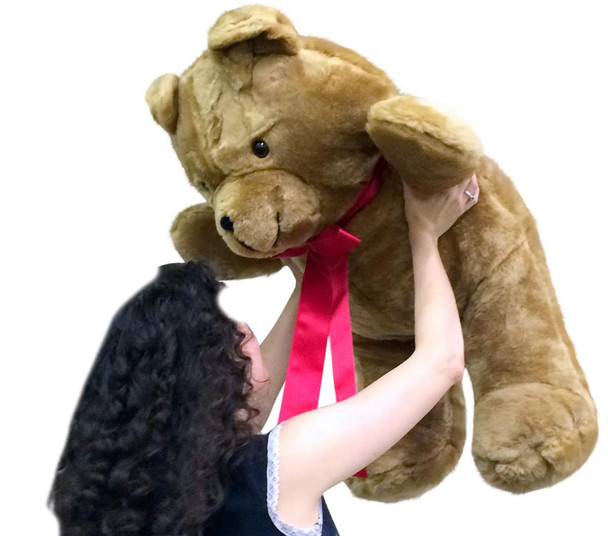 American Made Giant 3 Foot Brown Teddy Bear Soft 36 Inch Made in USA America