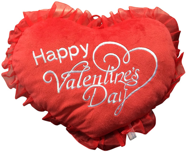 It's FREE to ADD A BIG PLUSH Happy Valentine's Day HEART - WE WILL ATTACH IT TO YOUR STUFFED ANIMAL