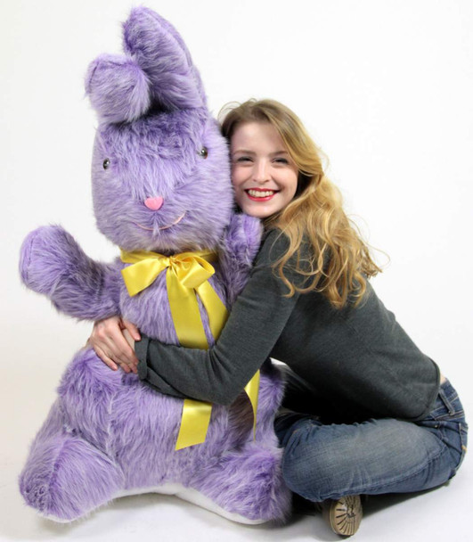 American Made Giant Stuffed Purple Bunny 42 Inch Soft Plush Rabbit Made in USA America