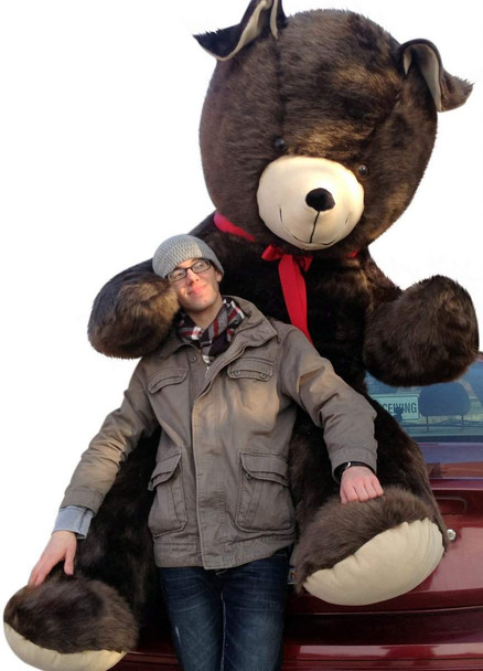 American Made 8 Foot Giant Teddy Bear Soft  96 Inch Brown Made in USA