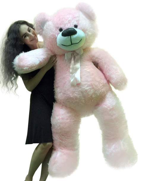 5 Foot American Made Giant Pink Teddy Bear 6o Inch Soft Made in USA