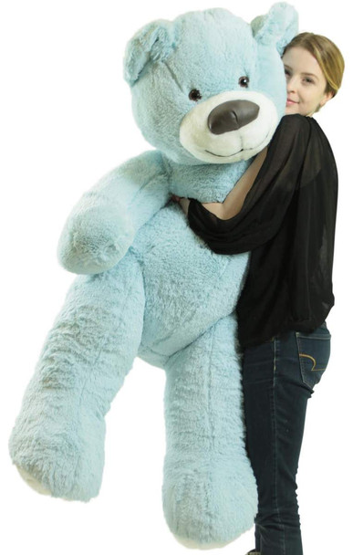 American Made Giant Blue Teddy Bear Soft 55 Inches Almost 5 Feet Tall