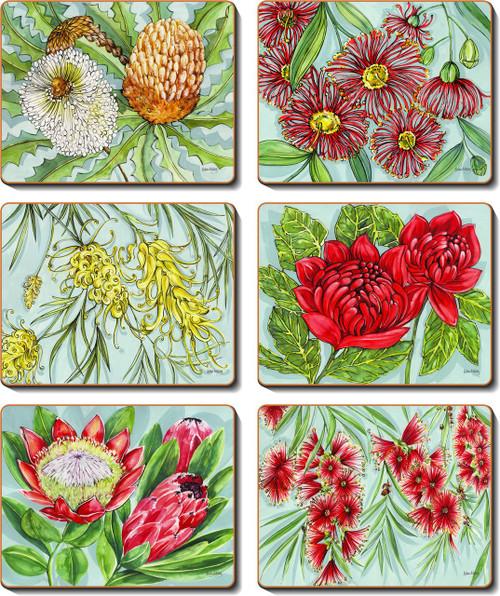 Bush Blooms Coasters