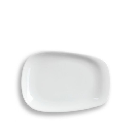 LINO White Pulled Plate Small
