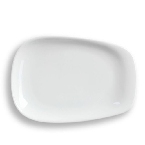 LINO White Pulled Plate Large