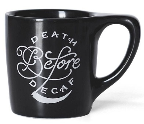 "Lino ""Death Before Decaf"" Coffee 10oz Mug"