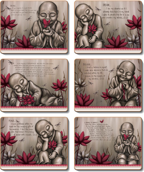 From The Soul Monk Red Coasters