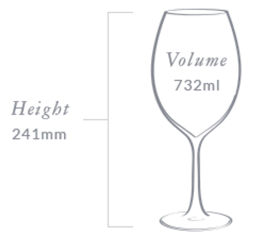 Plumm  Vintage Crystal REDa Wine Glass (Twin Pack)