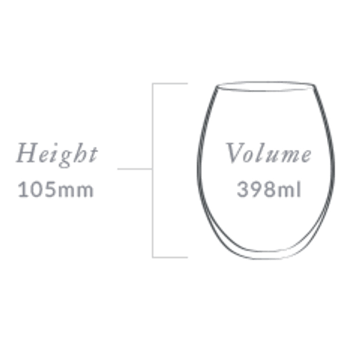 Plumm Stemless Outdoor WHITEa Wine Glass (Four Pack)