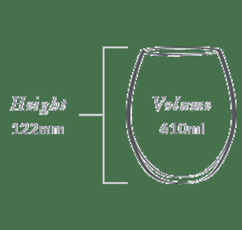 Plumm Stemless Outdoor REDa Wine Glass (Four Pack)