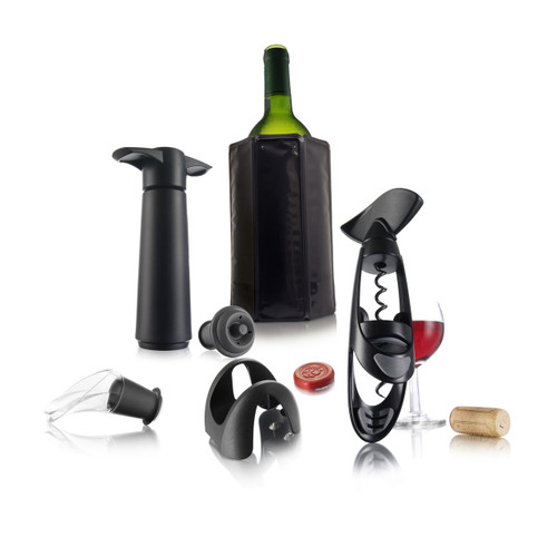 Wine Set Experienced  (Active Cooler, Vacuum Pump, Wine Stopper, Wine Server, Foil Cutter, Corkscrew Twister)