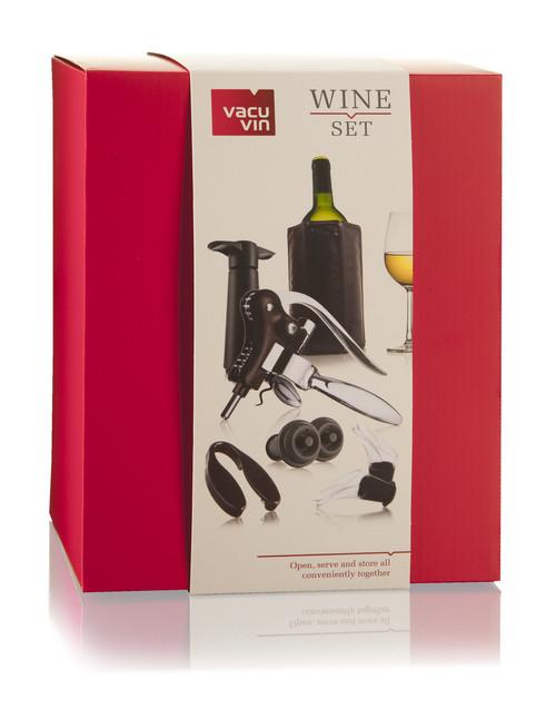 Wine Set Professional  (Active Cooler, Vacuum Pump, Wine Stopper, Wine Server, Foil Cutter, Lever Corkscrew)