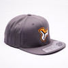 RYDCREW LOGO1 GREY FLEXFIT FLAT BILL  HAT