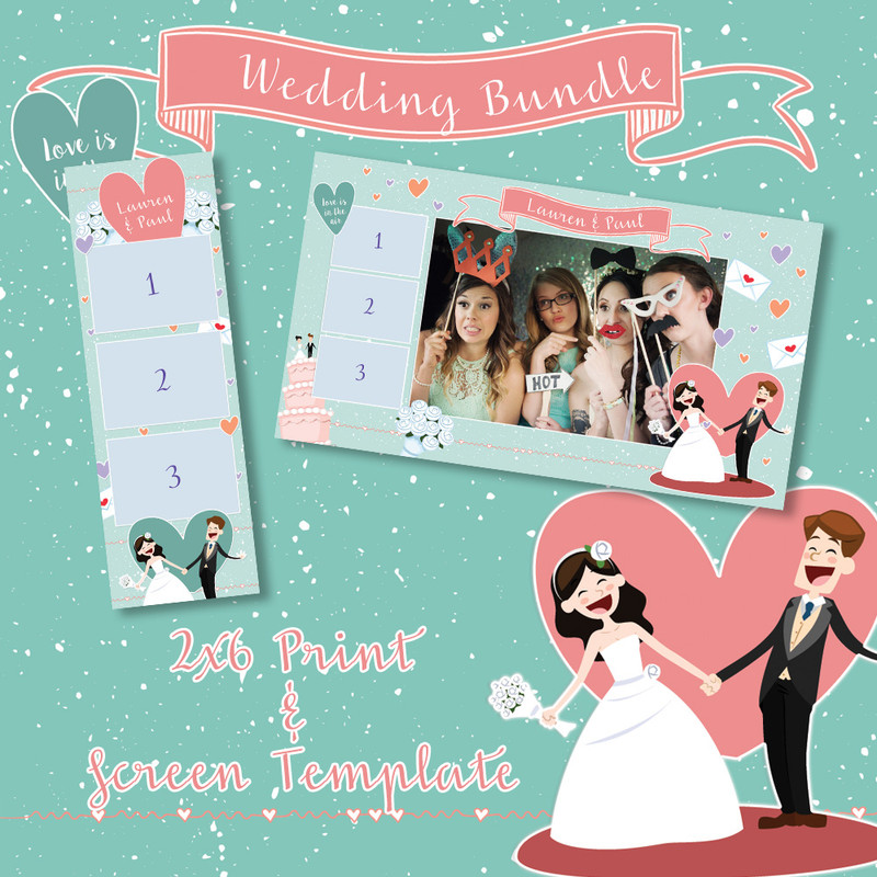 Wedding Bundle - 2x6 Print Template and Screen Template