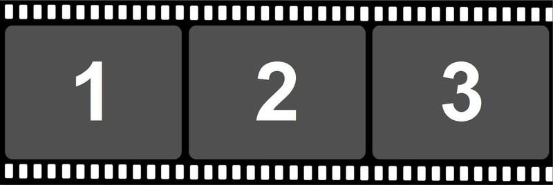 2x6 Filmstrip Print Template - 3Images