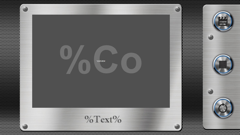 """Metal Screen Template made for """"Video Only"""""""