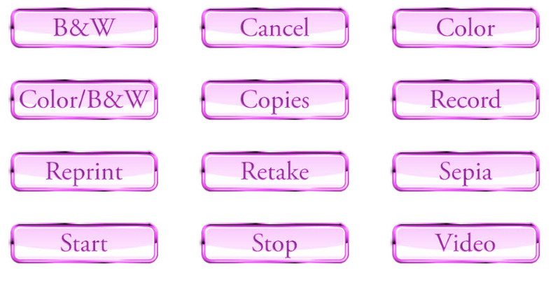 12 Glossy Button Graphics for Screen Templates (Pink)