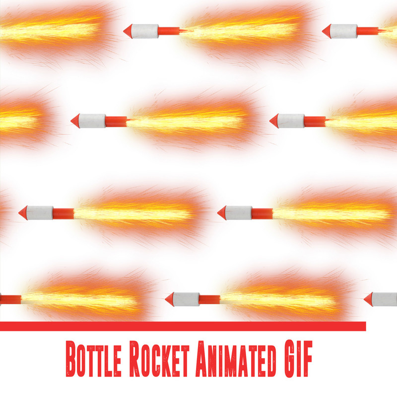 Bottle Rocket Animated GIF