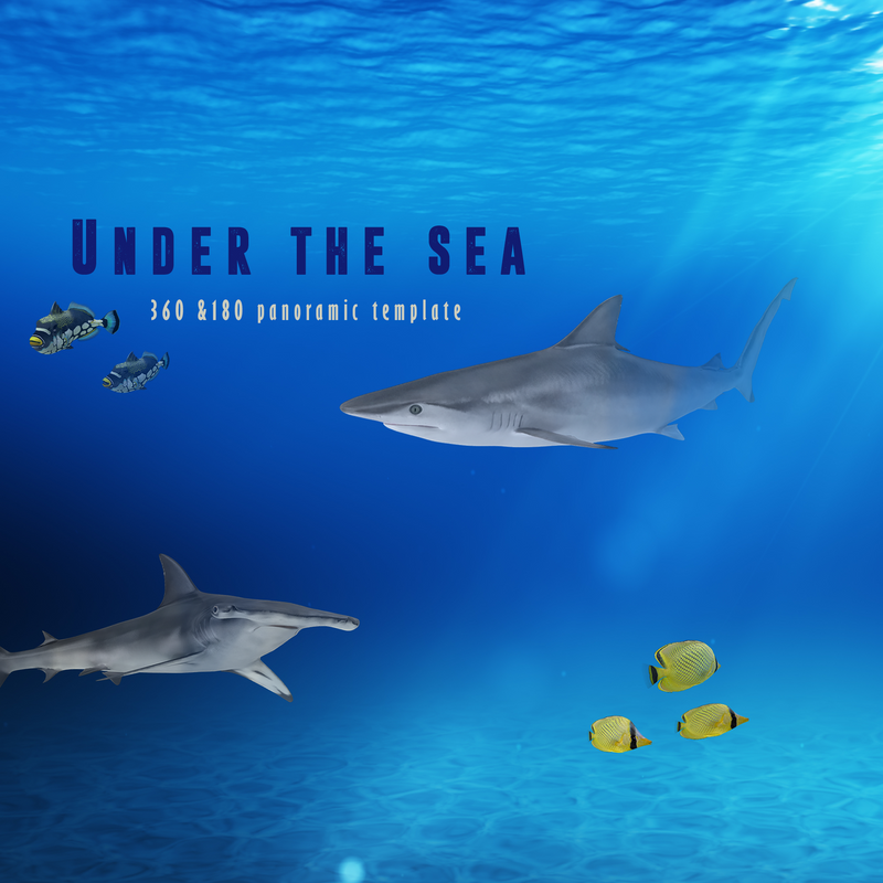 Under the Sea 360 & 180 Pano Template