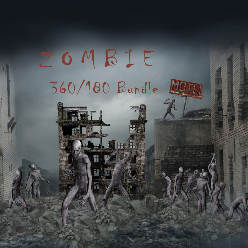 Zombie 180 & 360 Template Bundle
