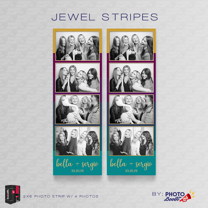 Jewel Stripes 2x6 4 Images - CI Creative