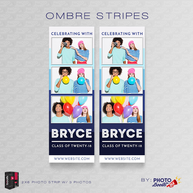 Ombre Stripes 2x6 3 Images - CI Creative