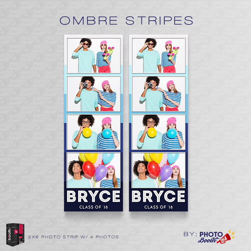 Ombre Stripes 2x6 4 Images - CI Creative