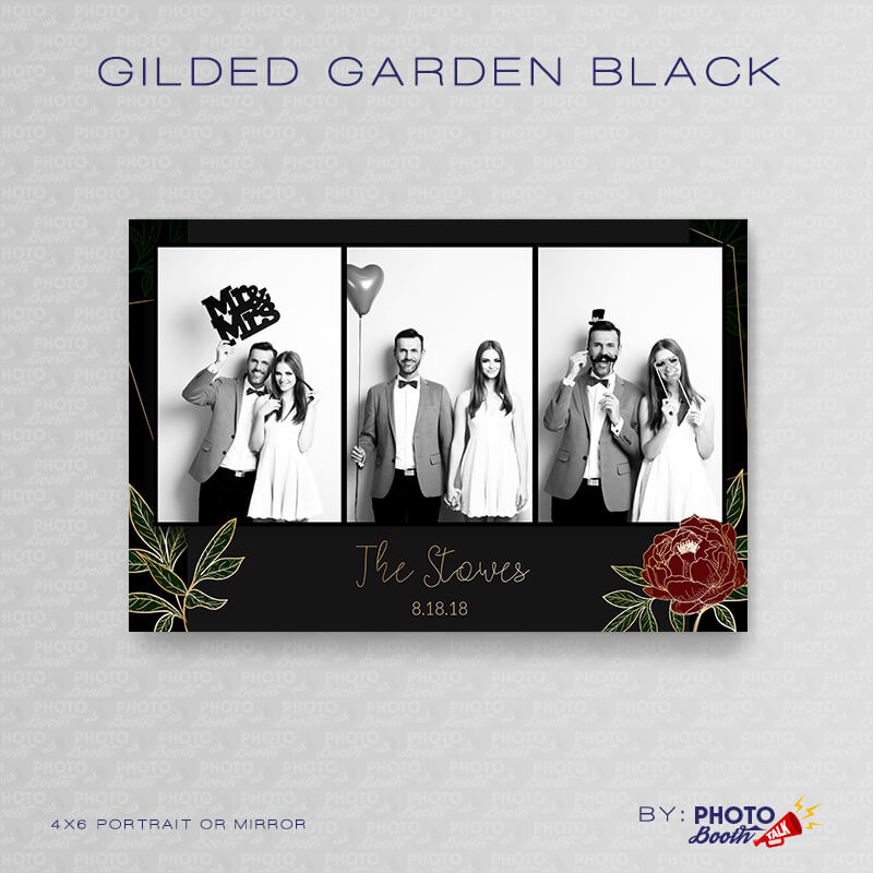 Gilded Garden Black Portrait Mirror - CI Creative