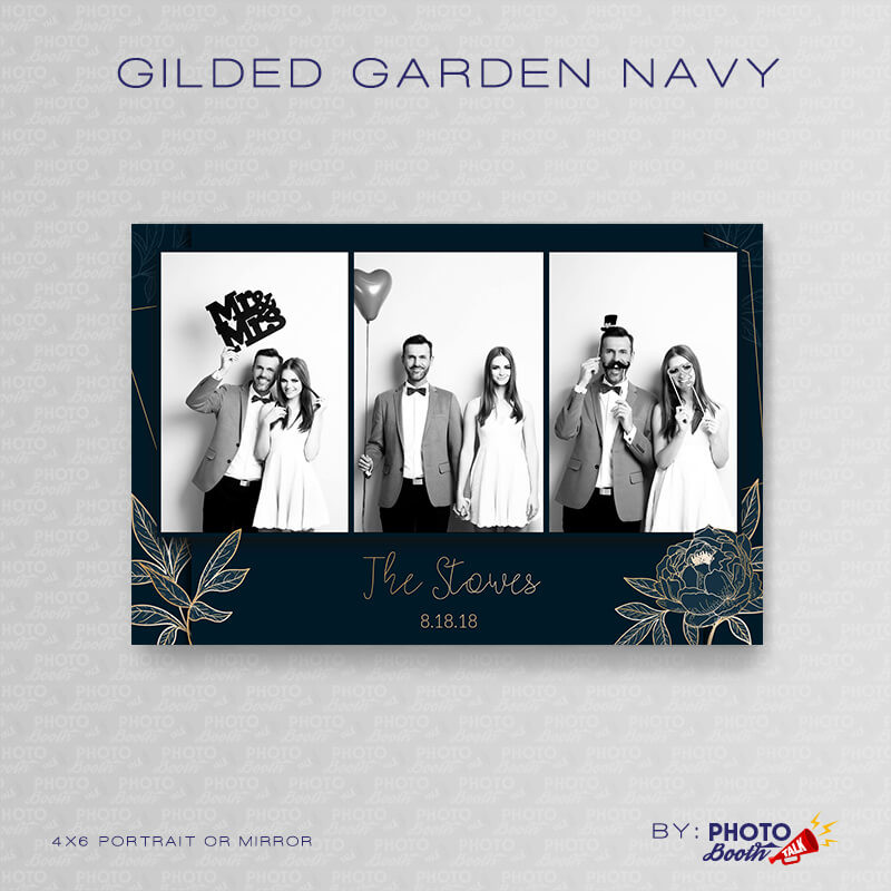 Gilded Garden Navy Portrait Mirror - CI Creative