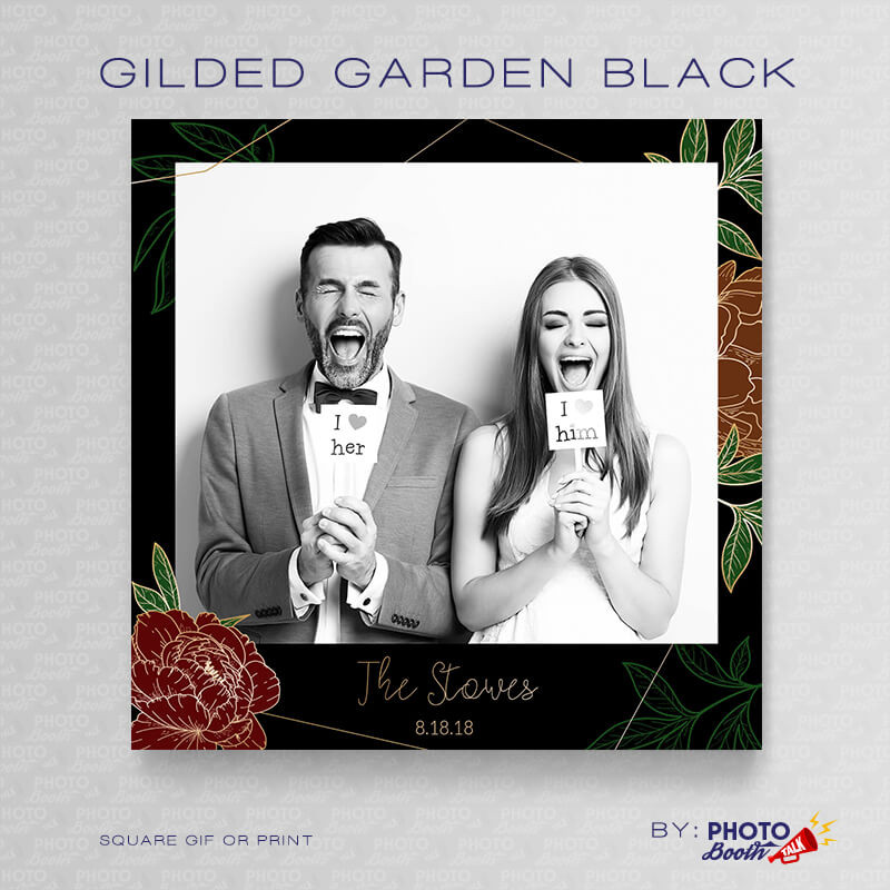 Gilded Garden Black Square - CI Creative
