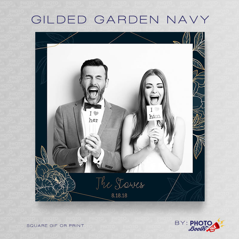 Gilded Garden Navy Square - CI Creative