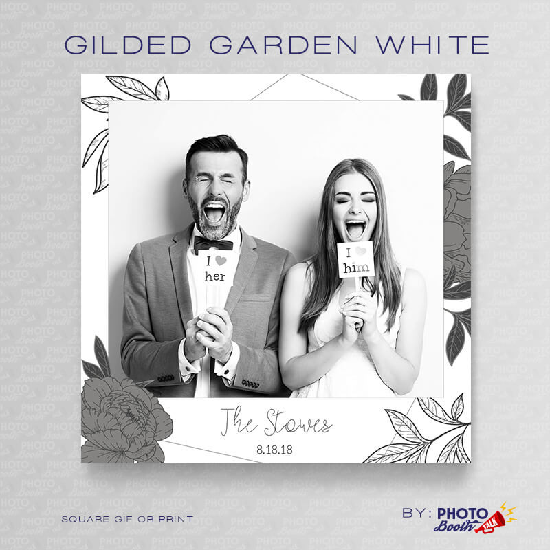 Gilded Garden White Square- CI Creative