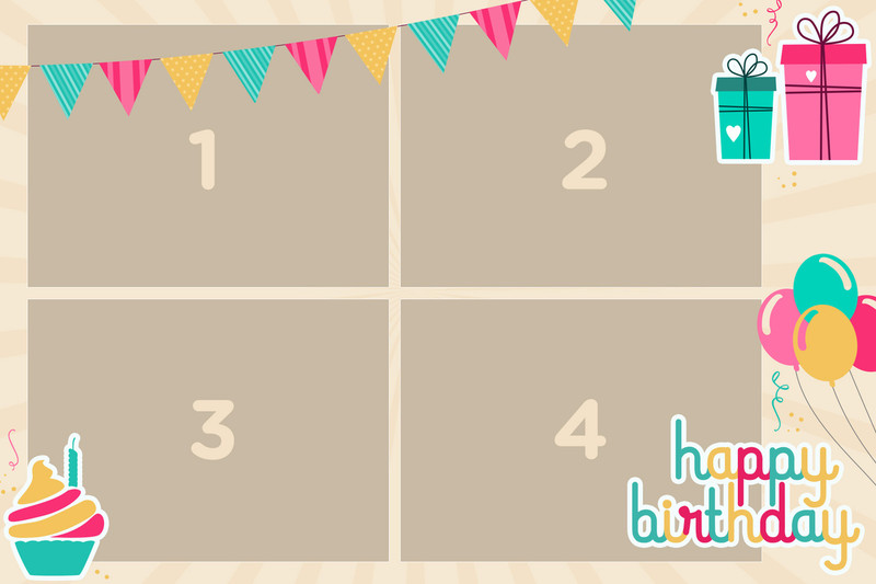 Birthday Balloons 4x6 print