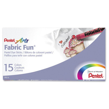 Pentel Fabric Fun Pastel Set of 15