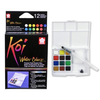 Koi Watercolor Sketch Box Set of 12