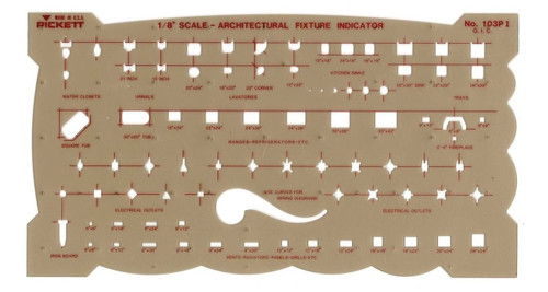 Art Drawing Templates | Architectural Drafting Templates