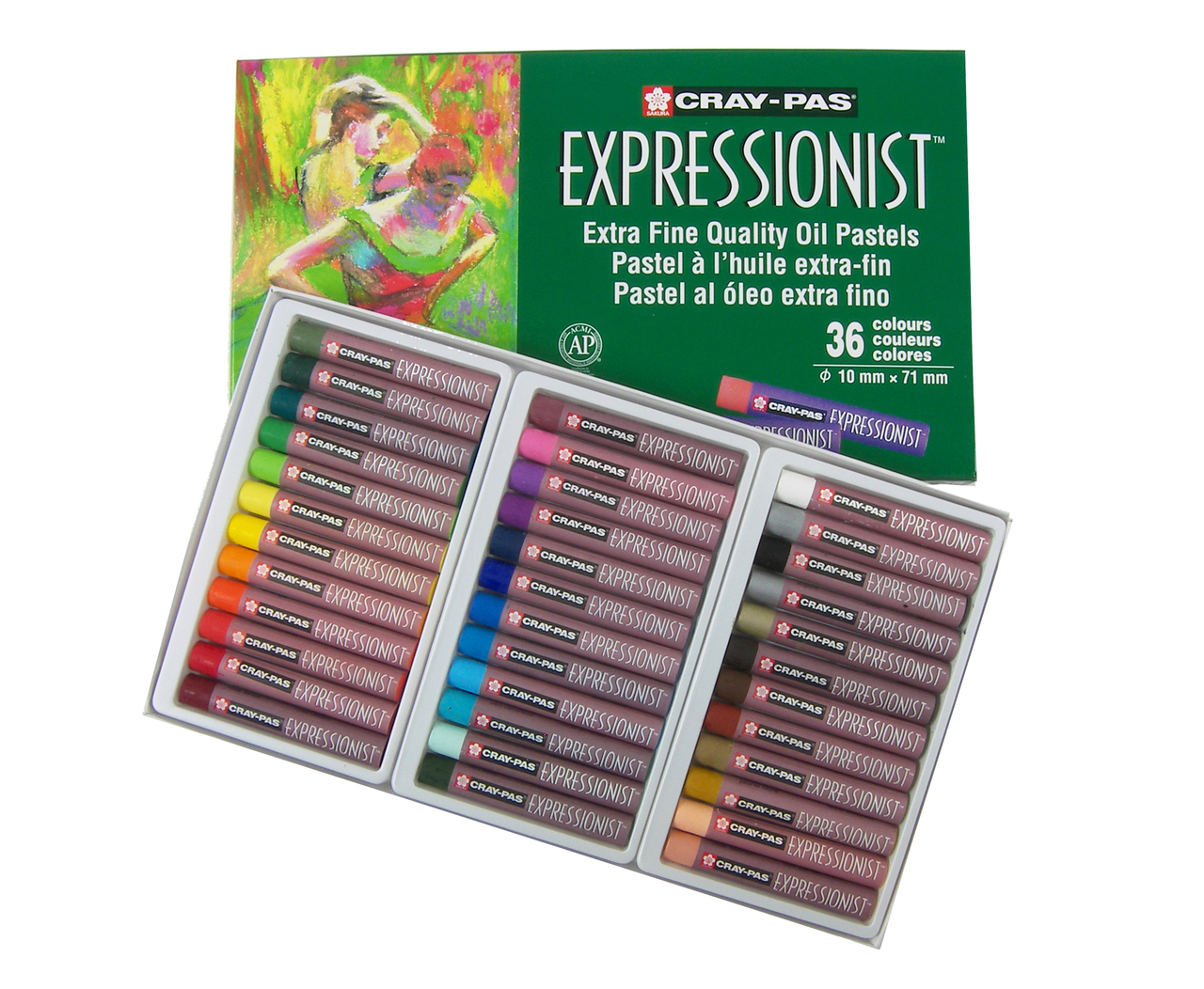 Expressionist Oil Pastel Sets Flax Art Design