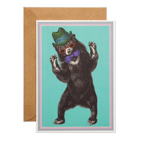 Bear Party greeting card