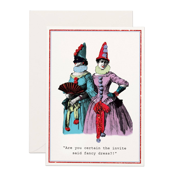 Fancy Dresses greeting card