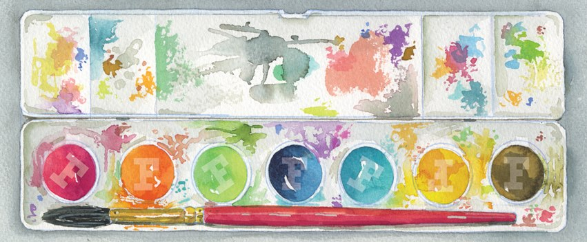 F Watercolor Palette