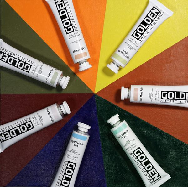 New Golden Heavy Body Light Value Colors Pinwheel