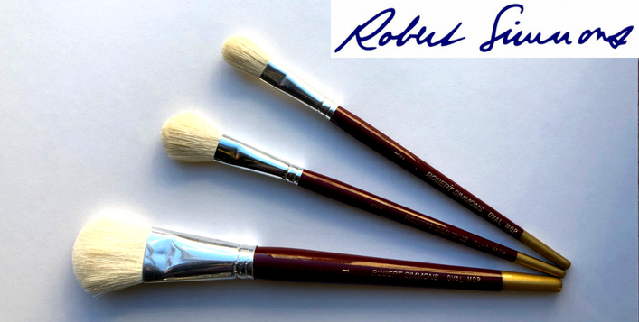 Robber Simmons Oval Mop Brush Set of 3