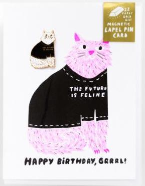 Happy Birthday, Grrrl greeting card