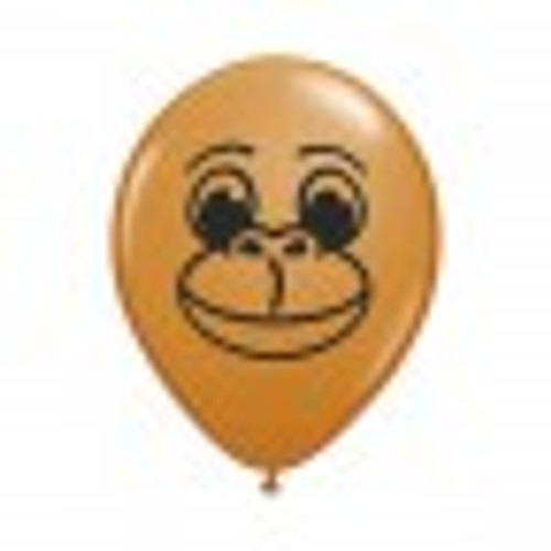 12cm Monkey Face Latex Balloons Pack of 100
