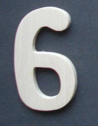 Wooden Number 6