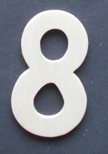 Wooden Number 8