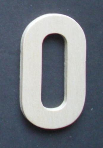 Wooden Number 0