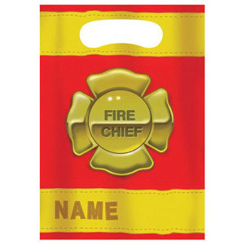 Firefighter Loot Bag Bag (16cm x 22cm) - Pack of 8