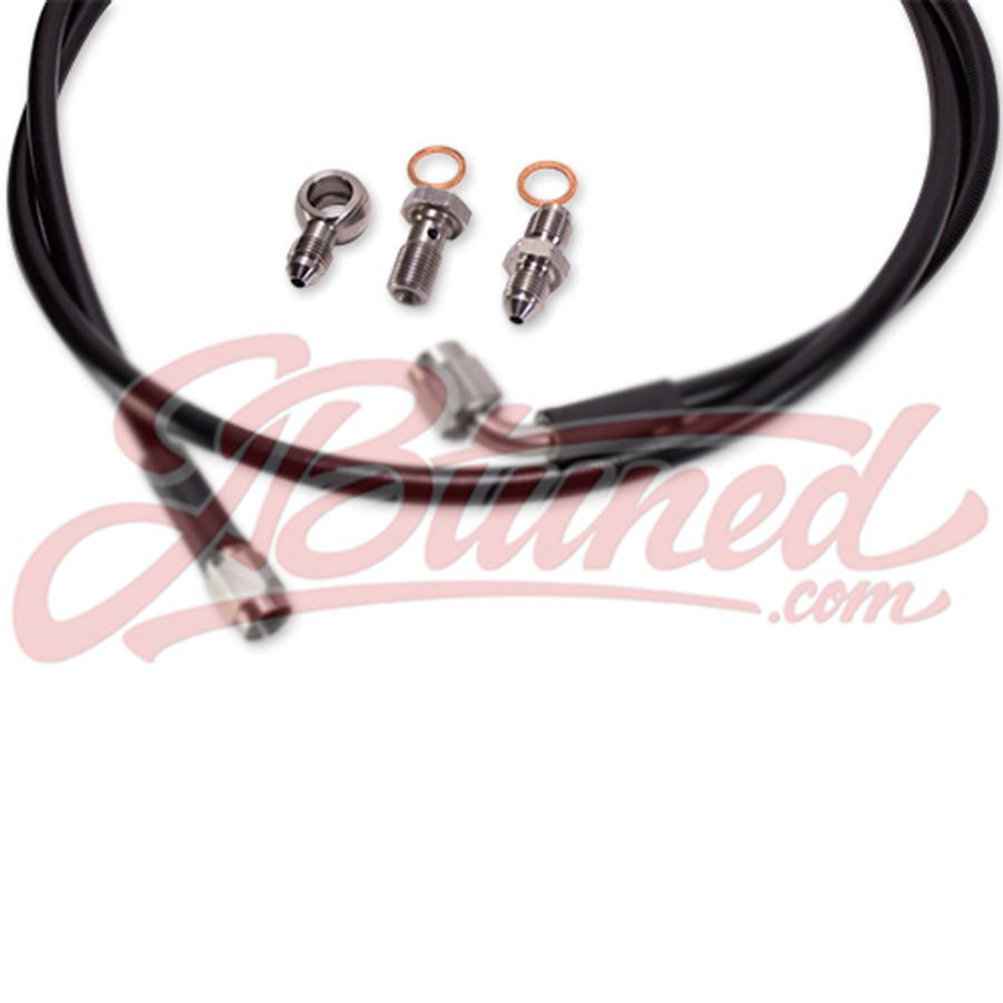 Tucked Stainless Steel Clutch Line Black Honda Civic 95-00 EK D /  B-Series